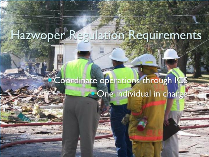 Hazwoper regulation requirements