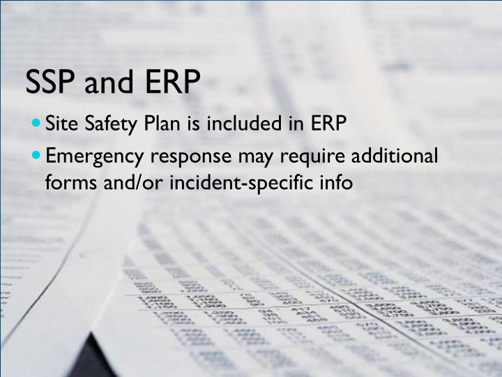 SSP and ERP