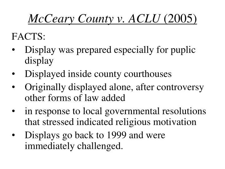 McCeary County v. ACLU