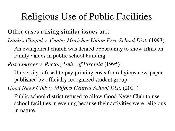 Religious Use of Public Facilities