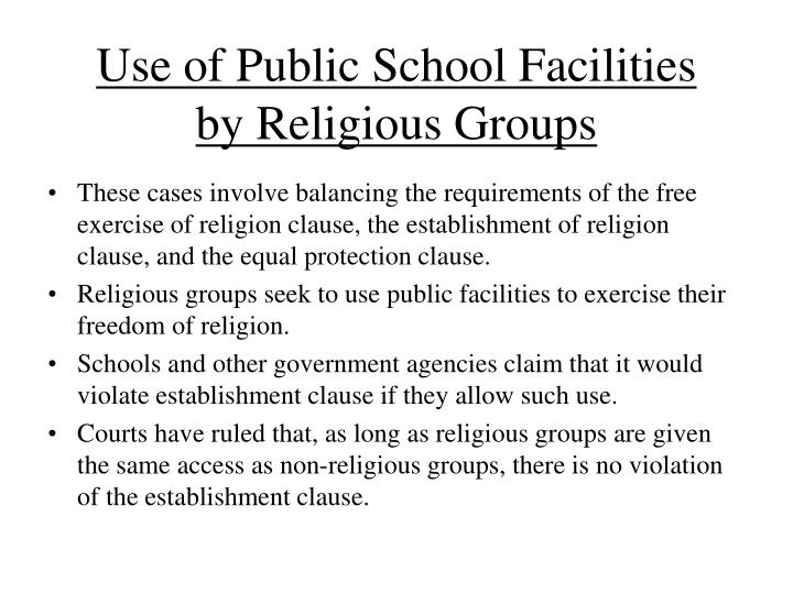 Use of Public School Facilities by Religious Groups
