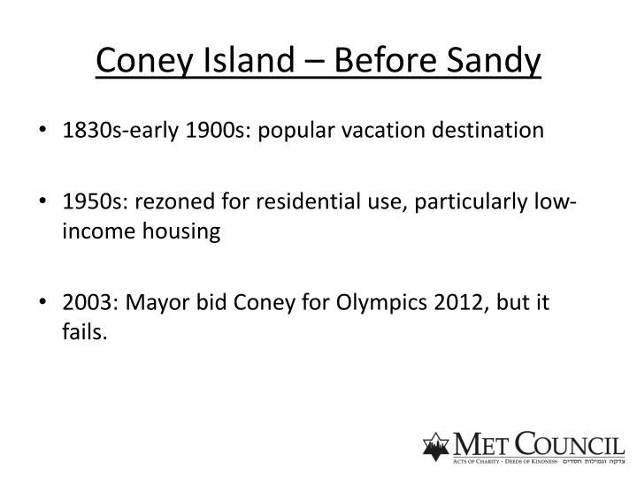 Coney Island – Before Sandy