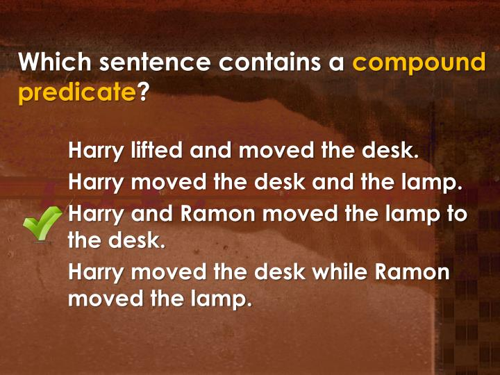 Which sentence contains a