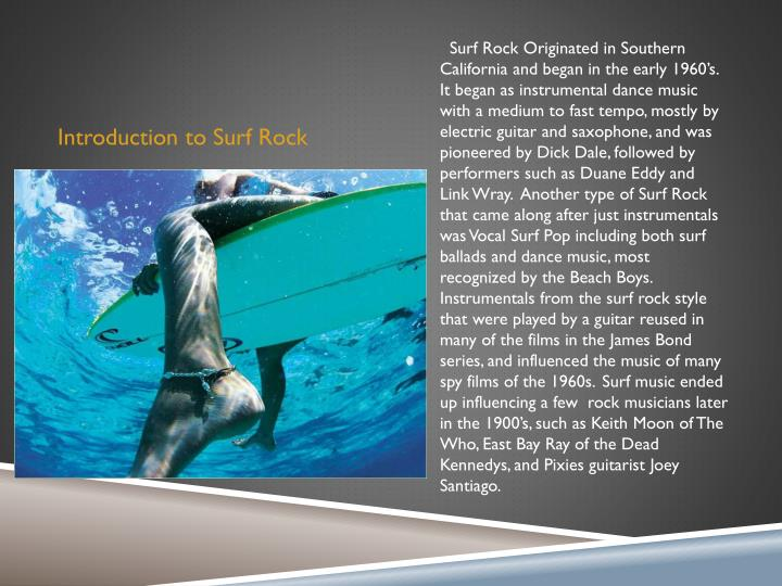Introduction to surf r ock