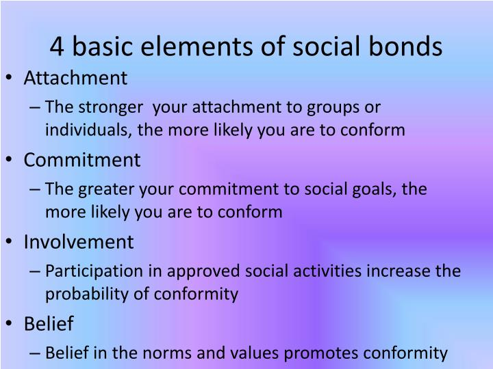 4 basic elements of social bonds