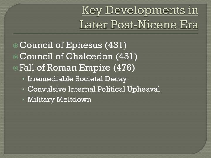 Key Developments in