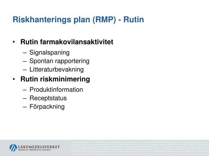 Riskhanterings plan (
