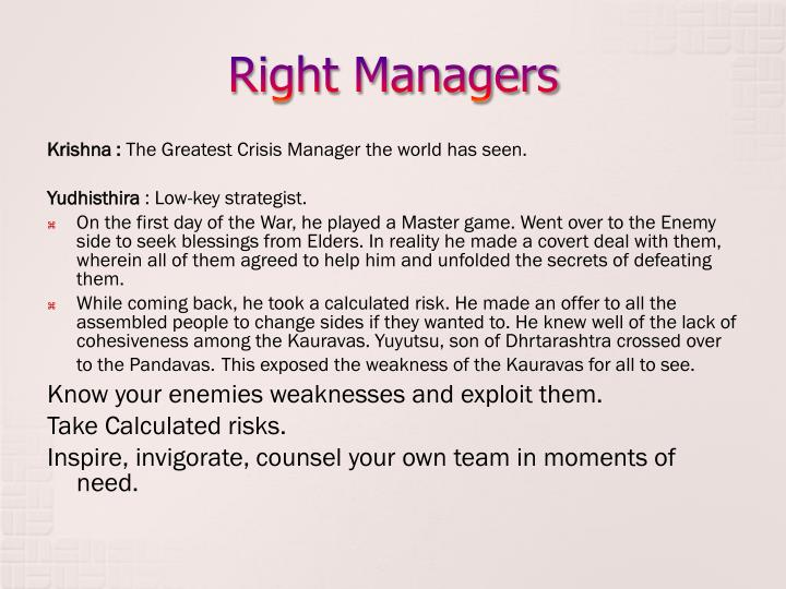 Right Managers