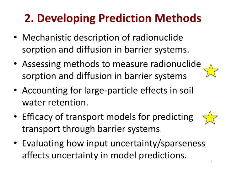 2. Developing Prediction Methods