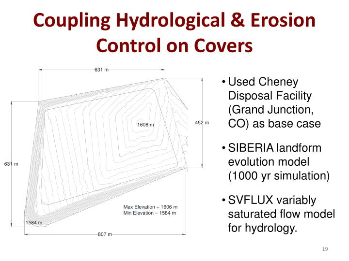 Coupling Hydrological & Erosion Control on