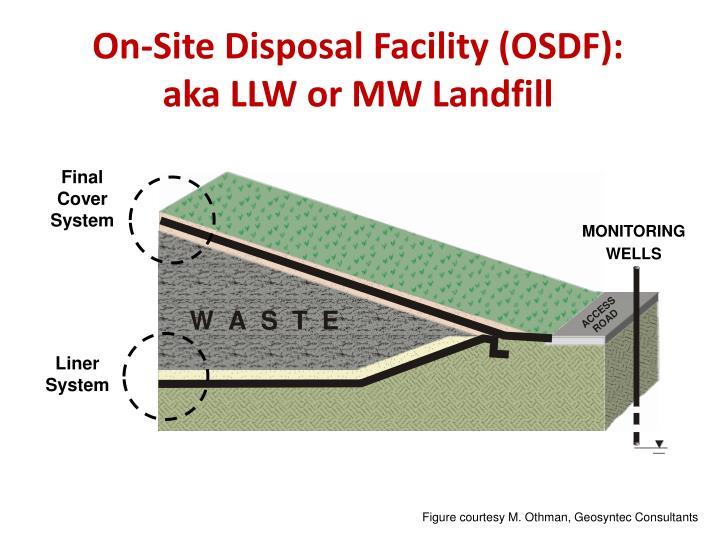 On site disposal facility osdf aka llw or mw landfill