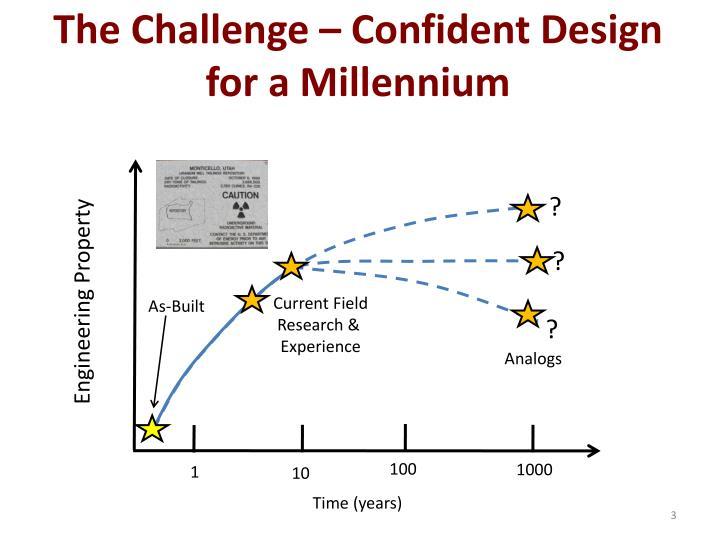 The challenge confident design for a millennium