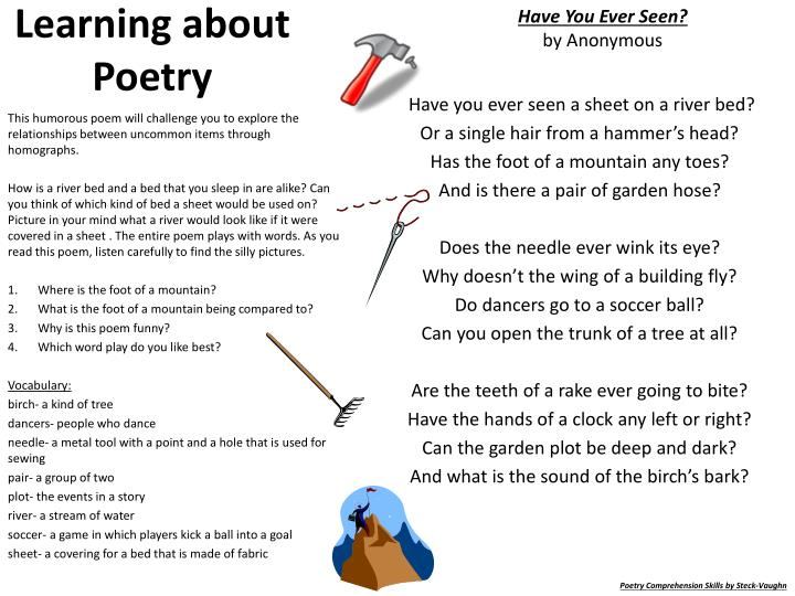 learning about poetry n.