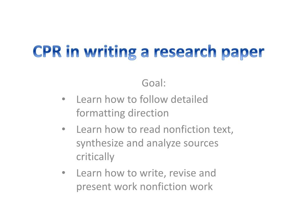 learn to write paper