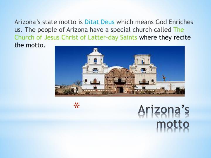 Arizona s motto