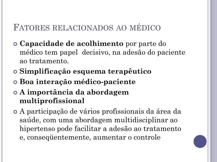 Fatores relacionados ao médico