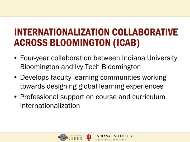 Internationalization collaborative across bloomington icab