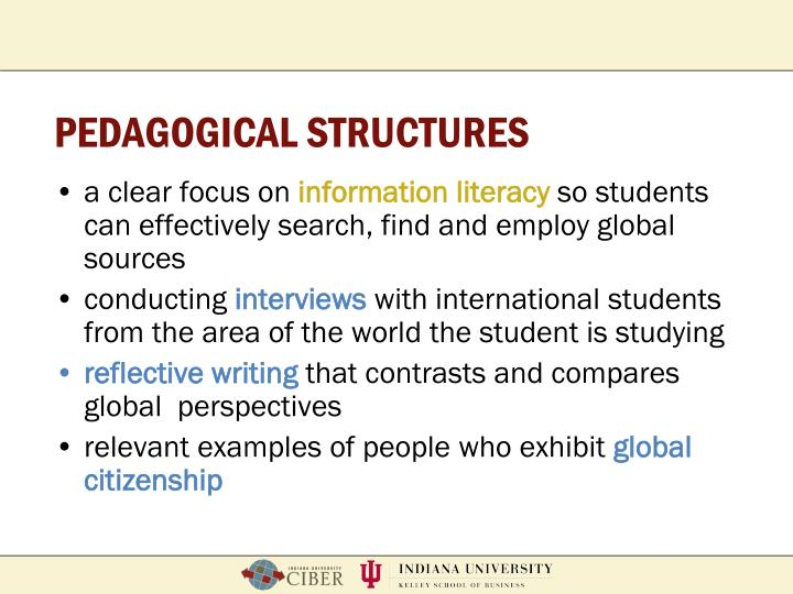 PEDAGOGICAL STRUCTURES