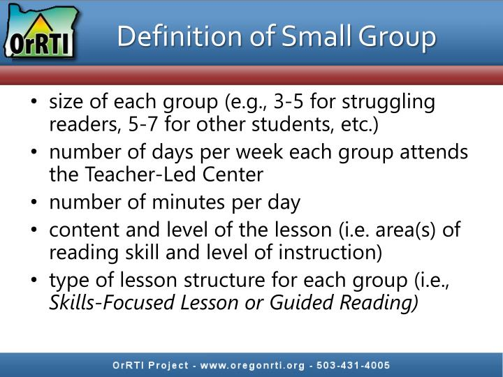 Definition of Small Group