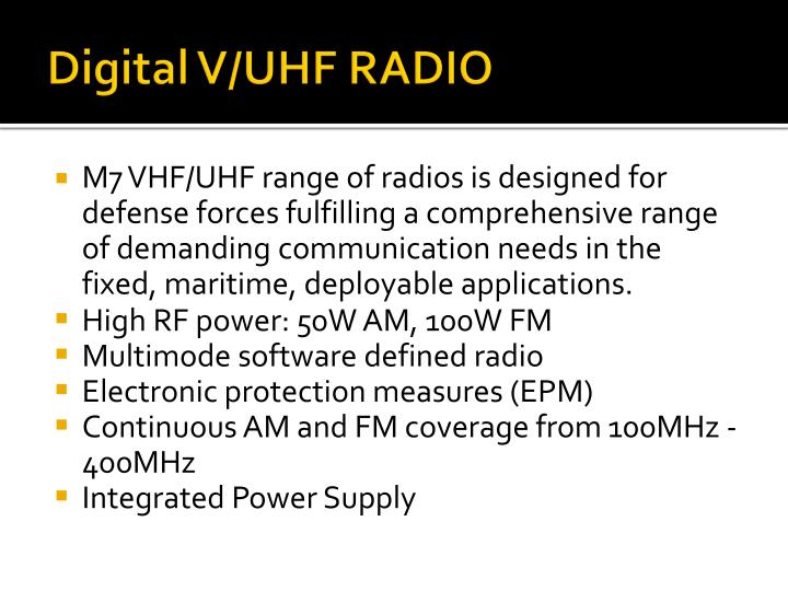 Digital V/UHF RADIO