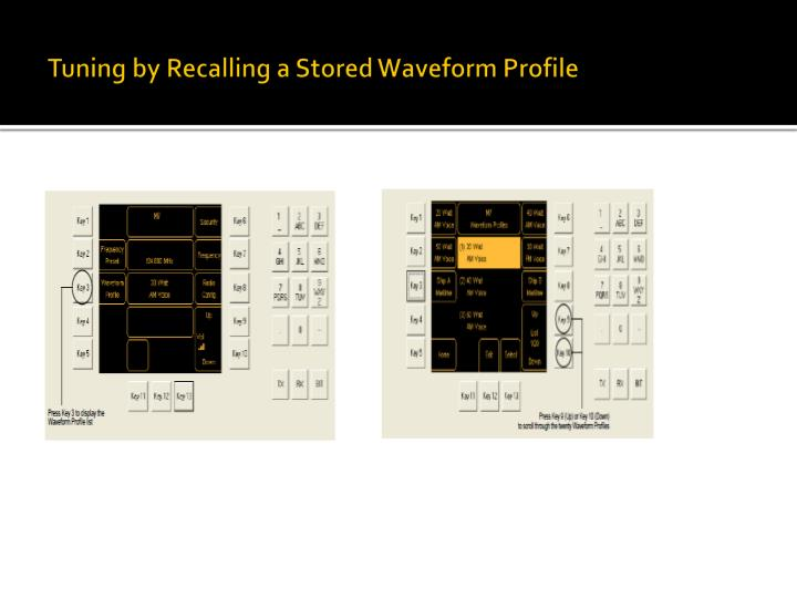 Tuning by Recalling a Stored Waveform Profile