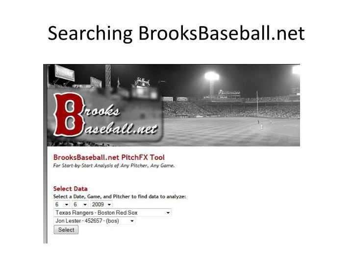 Searching BrooksBaseball.net