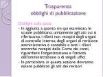 trasparenza obblighi di pubblicazione7