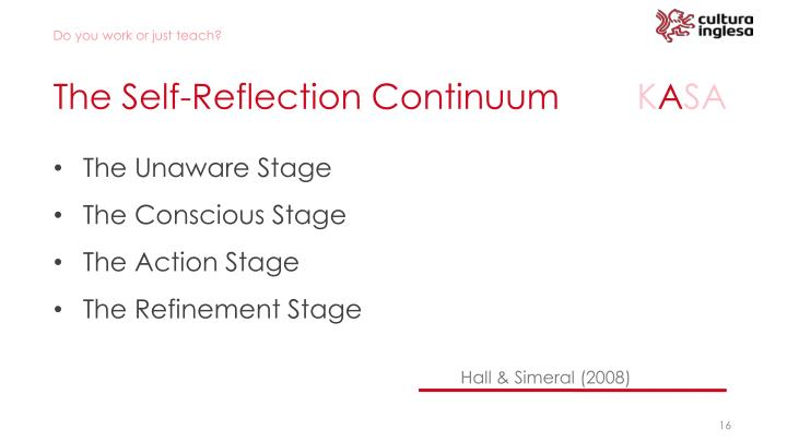 The Self-Reflection Continuum
