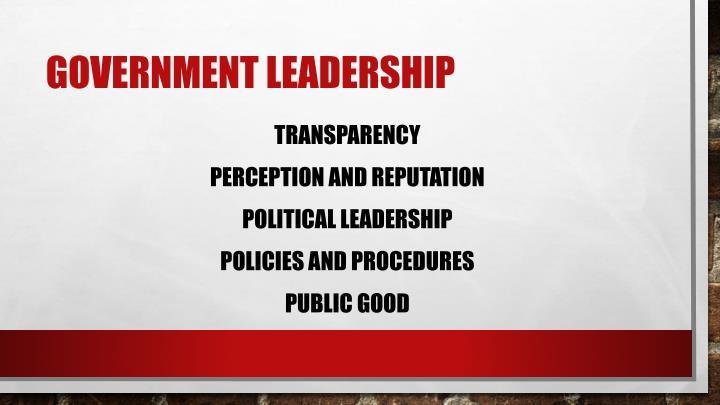 Government Leadership