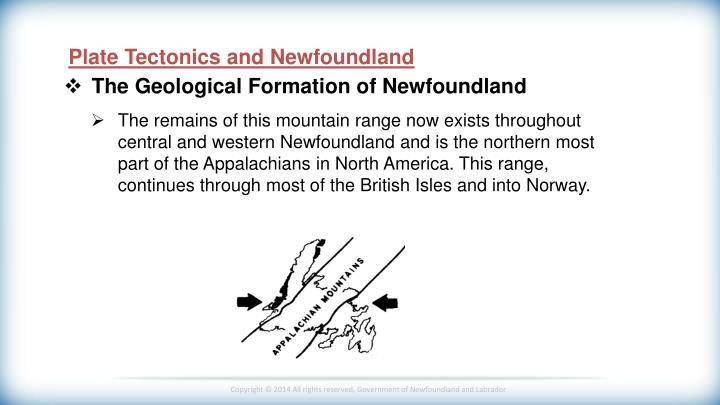 Plate Tectonics and Newfoundland