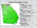 georgia s physiographic provinces1