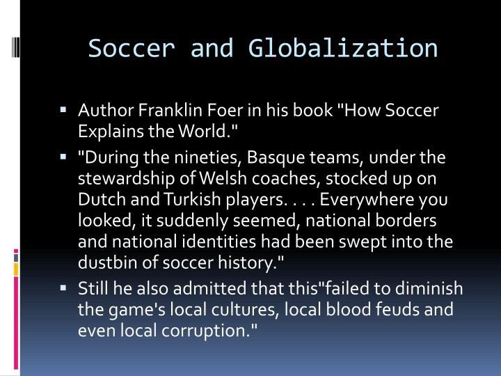 Soccer and Globalization