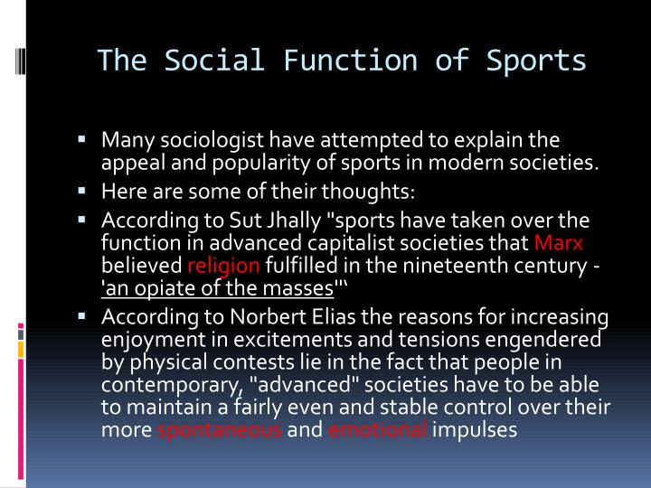 The social function of sports