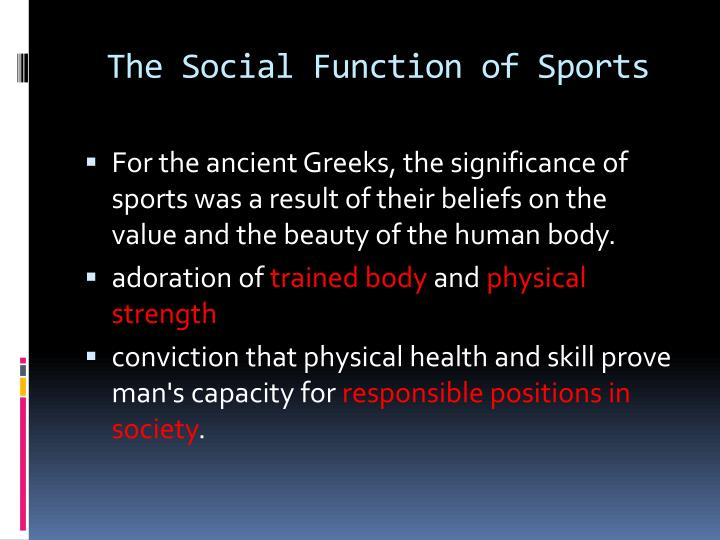 The social function of sports1