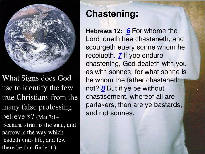 Chastening: