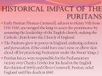 historical impact of the puritans