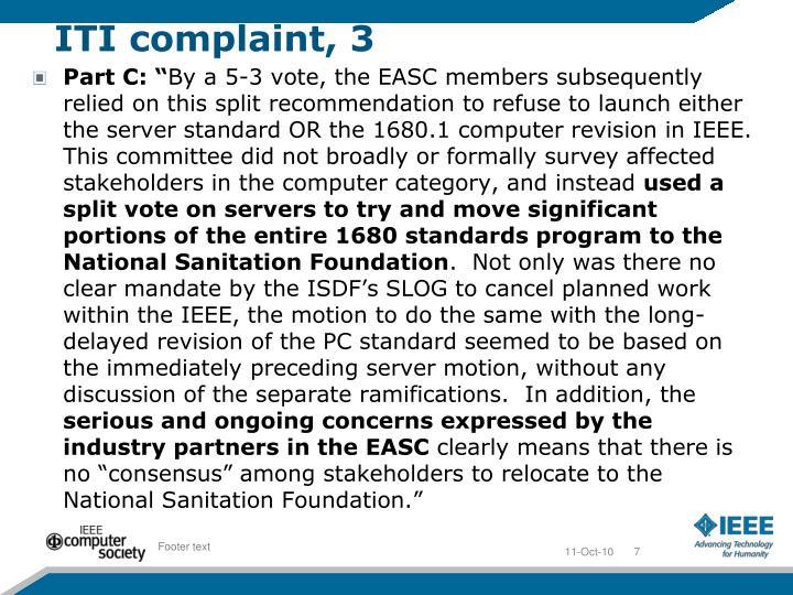 ITI complaint, 3