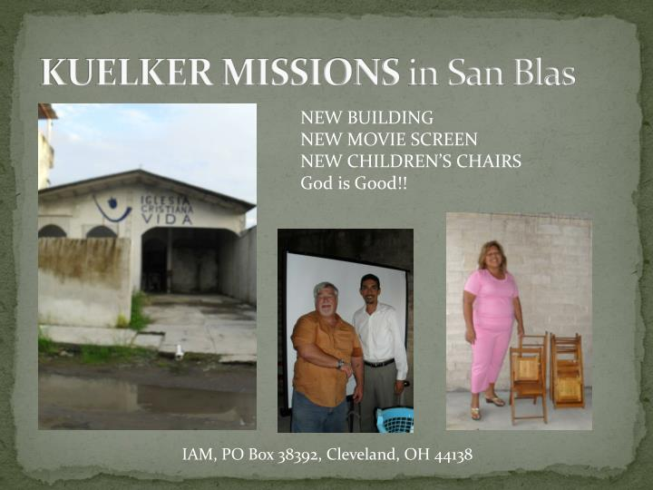 Kuelker missions in san blas