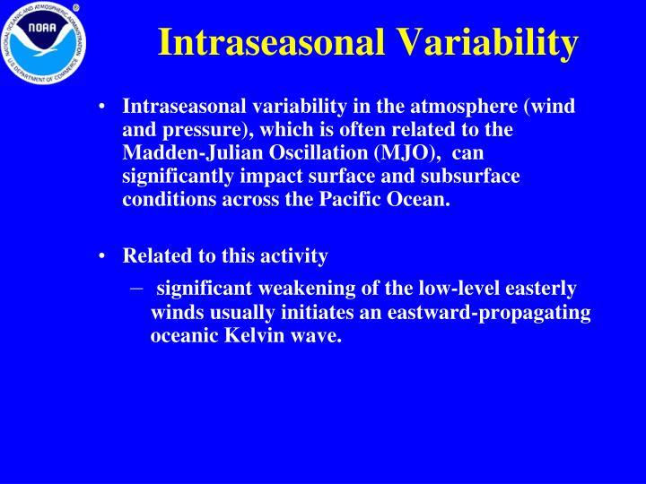 Intraseasonal Variability