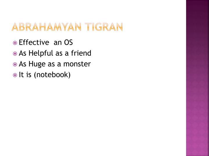 Abrahamyan tigran