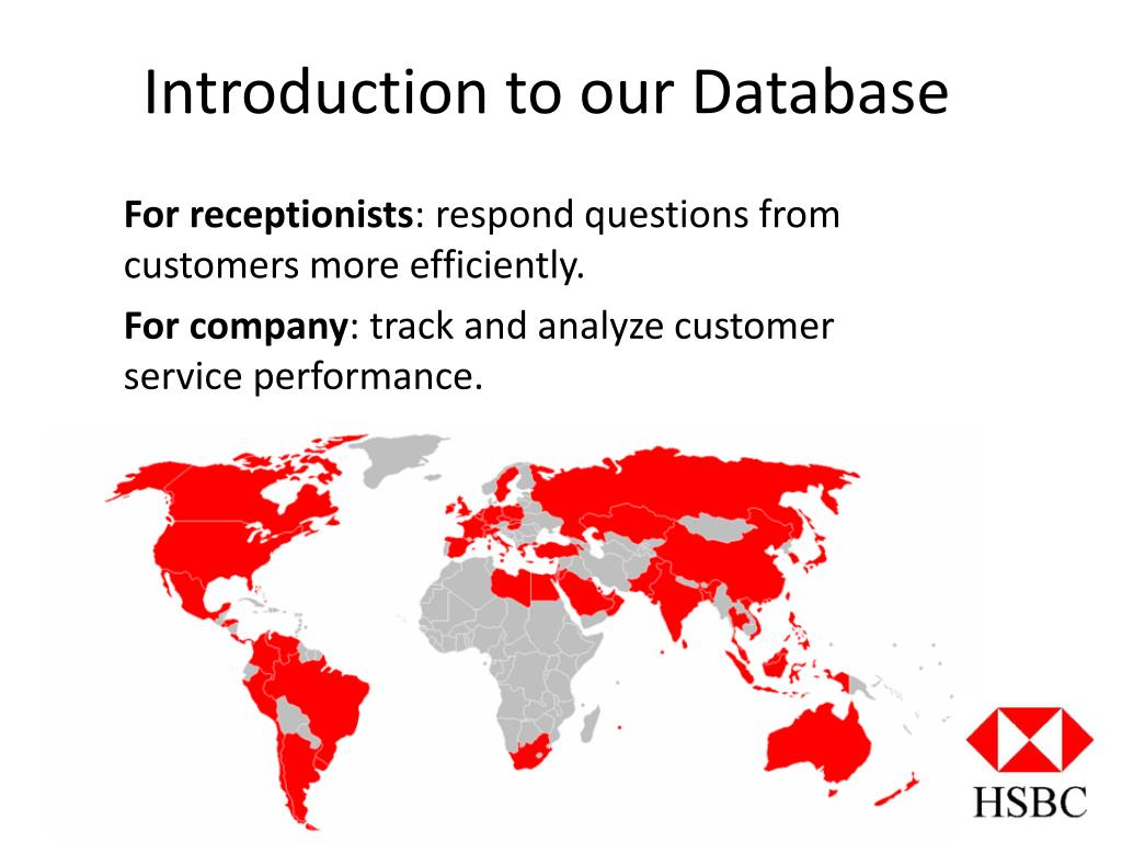 PPT - HSBC Customer-Question Database PowerPoint Presentation - ID