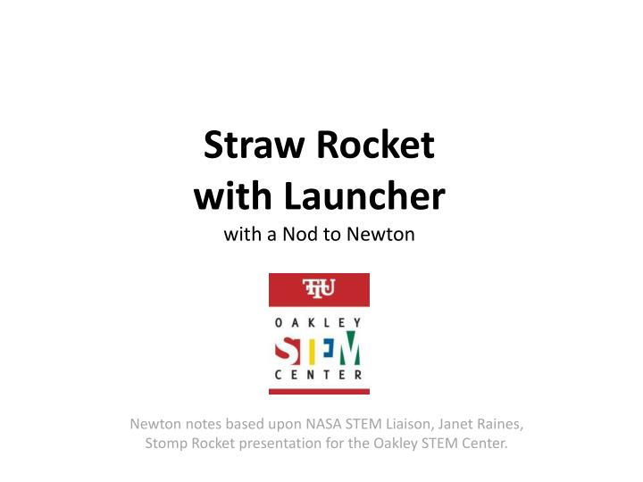 how to make a straw rocket launcher