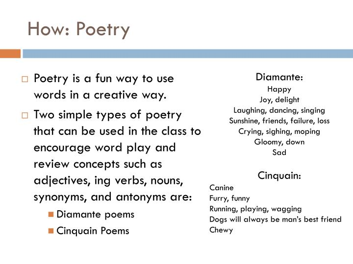 How: Poetry