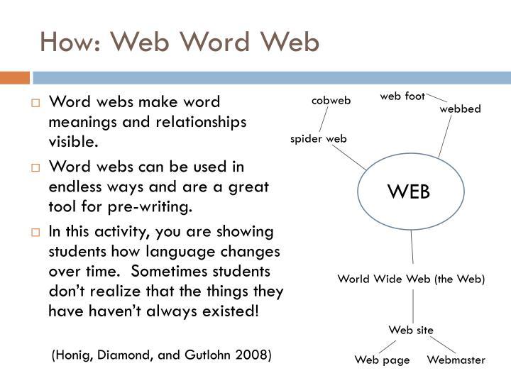 How: Web Word Web