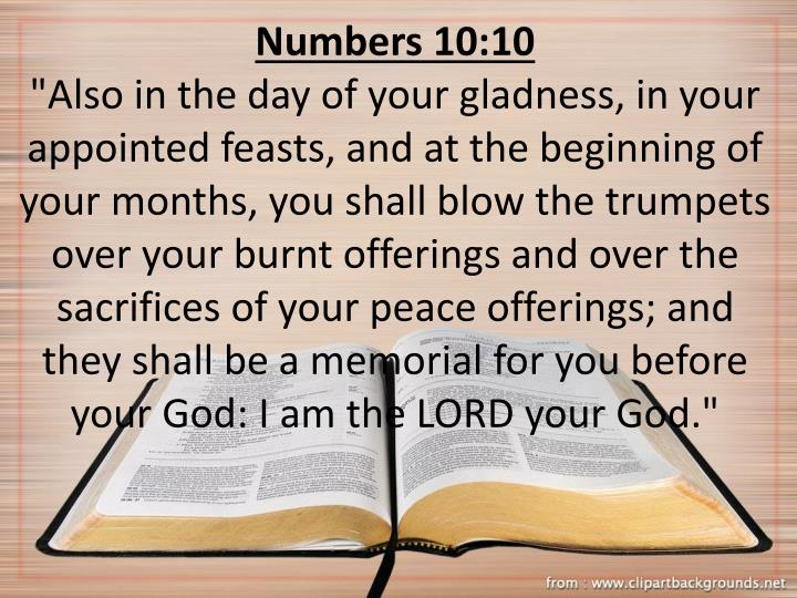 Numbers 10:10