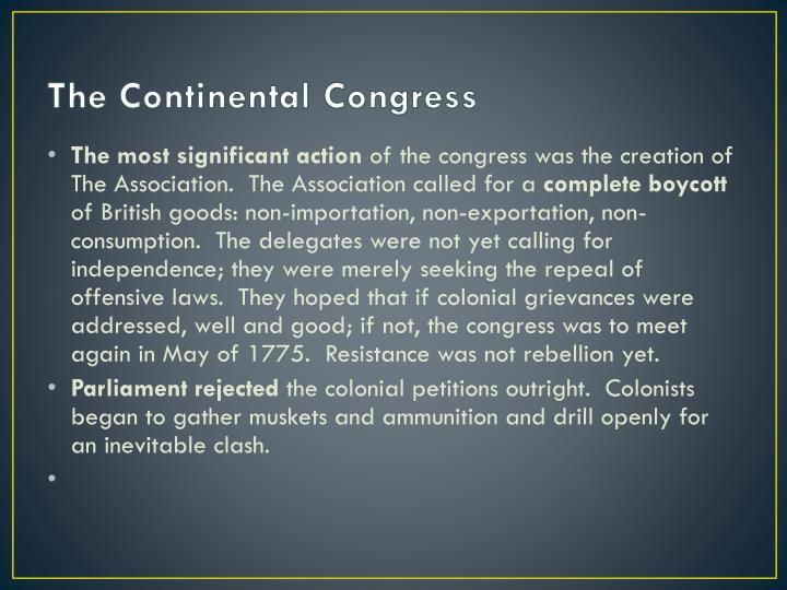 The Continental Congress