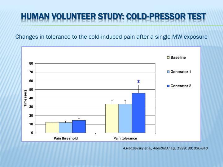 Human volunteer study: cold-