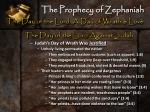 the prophecy of zephaniah8