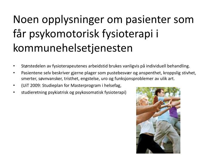 psykomotorisk fysioterapi harstad