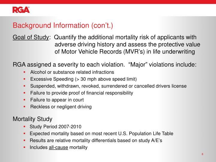 Background Information (